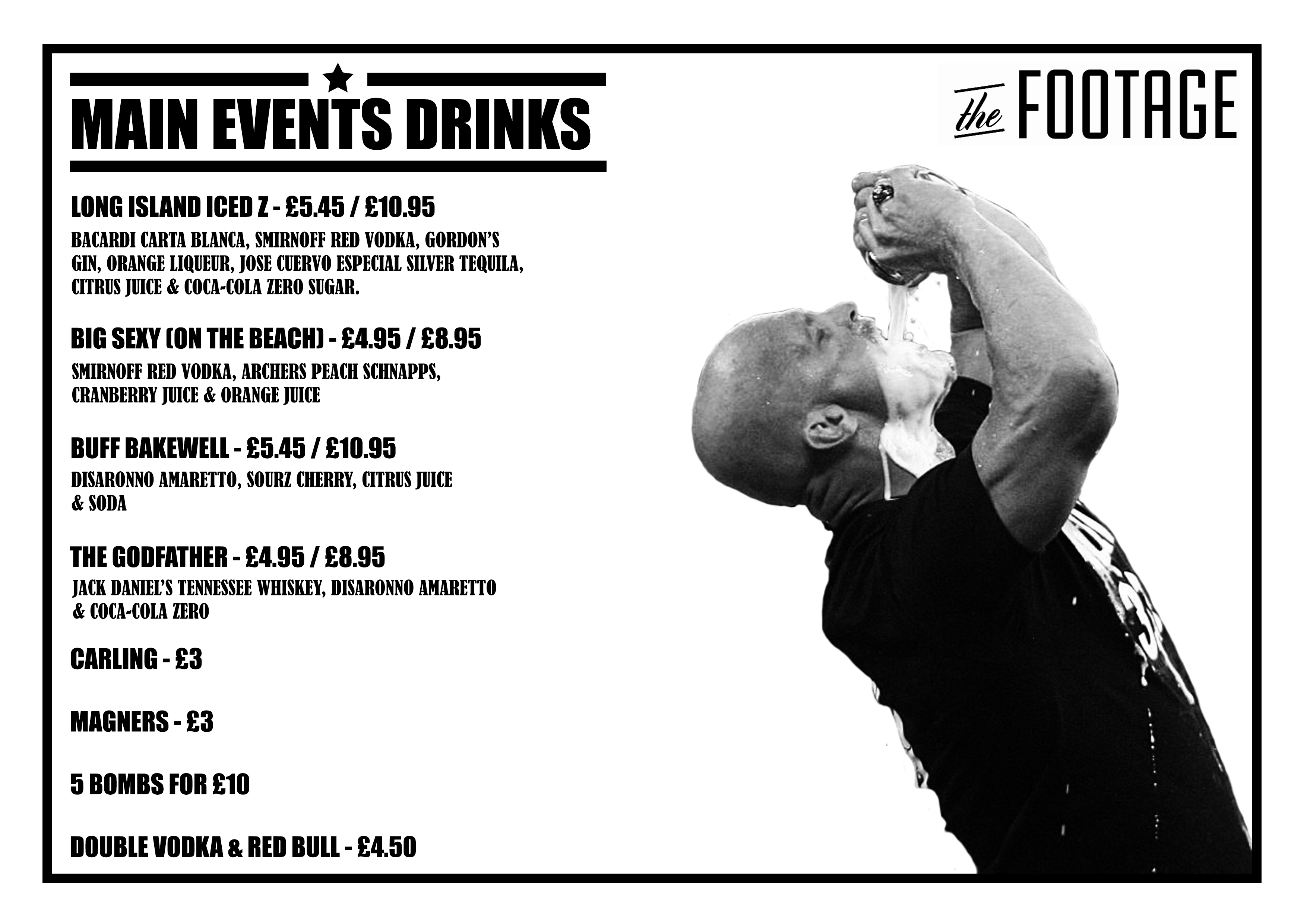 Main Events Wrestling PPV Drinks Deals The Footage Manchester