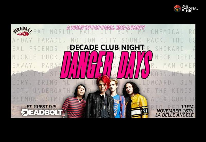 Deadbolt Decade Edinburgh My Chemical Romance - Red Cardinal Music