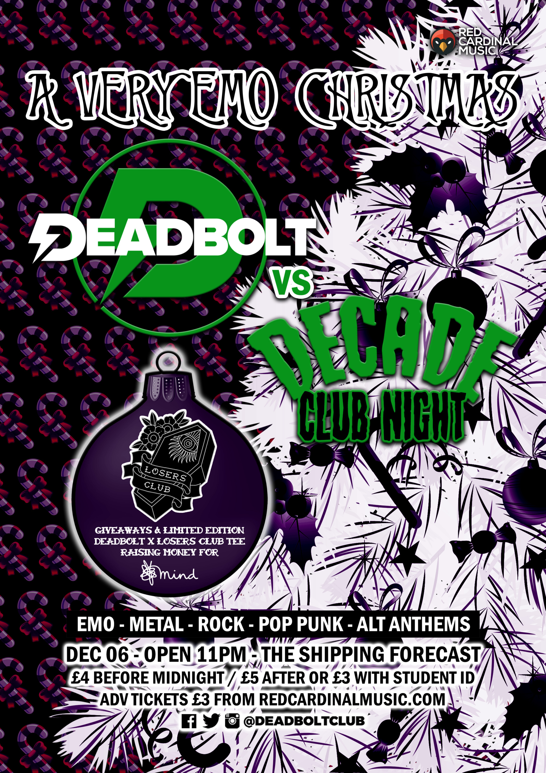 Deadbolt Liverpool x Decade - Emo Christmas 2019 - The Shipping Forecast - Poster