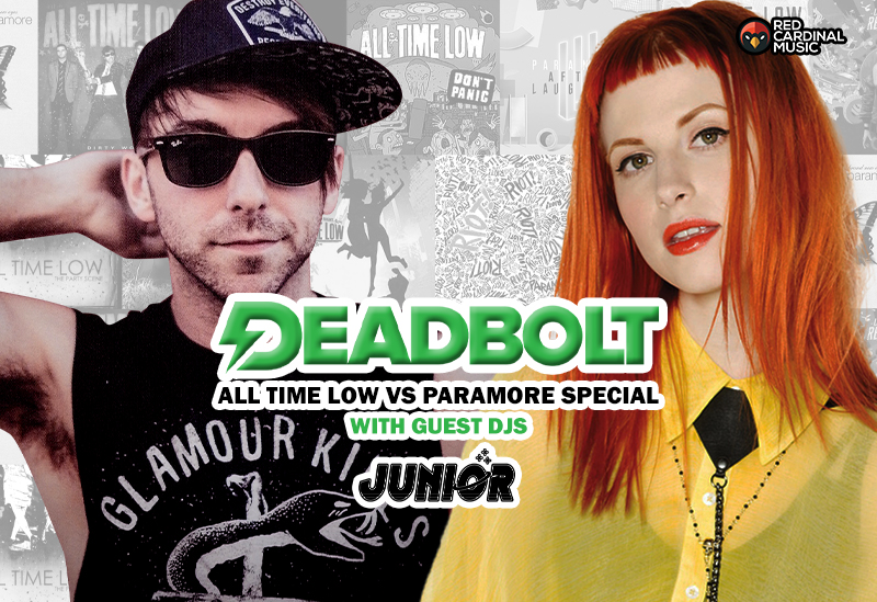 Deadbolt Manchester - All Time Low vs Paramore ft Junior - Feb 20 - Red Cardinal Music